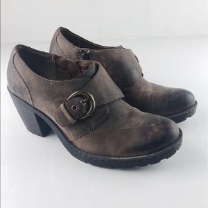 B.O.C. Distressed Leather Low Cut Ankle Boot